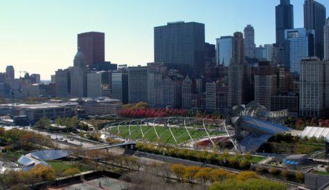 Millennium Park and Chicago skyline